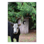 La vaca visita una dependencia tarjetas