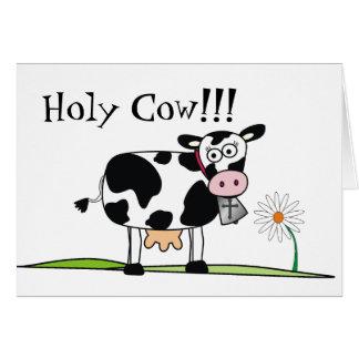 La Vaca-Yo santa olvidó su cumpleaños Tarjeta De Felicitación