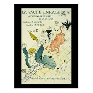 La Vache Enragee de Toulouse-Lautrec Tarjetas Postales