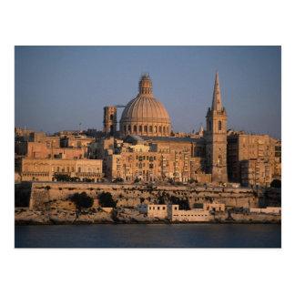 La Valeta, de la bahía de Sliema, Malta Tarjetas Postales