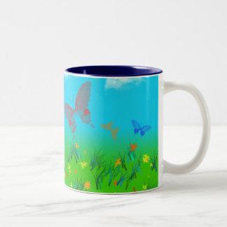 La valse des papillons mug à café