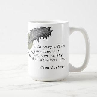 la vanidad engañará taza de café