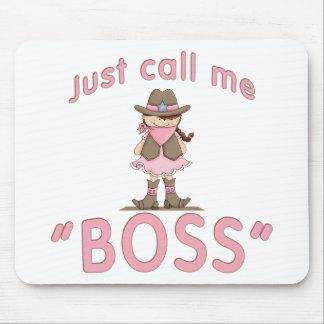 La vaquera me llama Boss Alfombrilla De Ratones