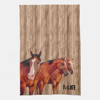 La vaquera occidental del amante el | del caballo toalla