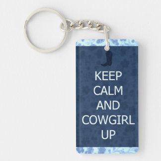 La vaquera para arriba guarda llavero tranquilo