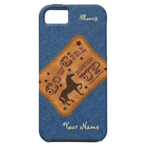 La vaquera reúne la caja del iPhone 5 iPhone 5 Protector