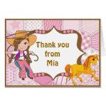 La vaquera triguena le agradece tarjeta de nota