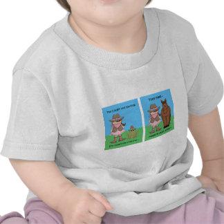 La vaquera y el Brunet de la rana Camisetas