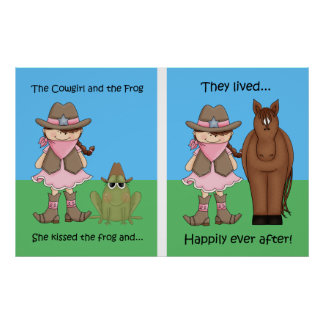 La vaquera y el Brunet del poster de la rana
