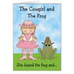 La vaquera y la tarjeta de cumpleaños de la rana -
