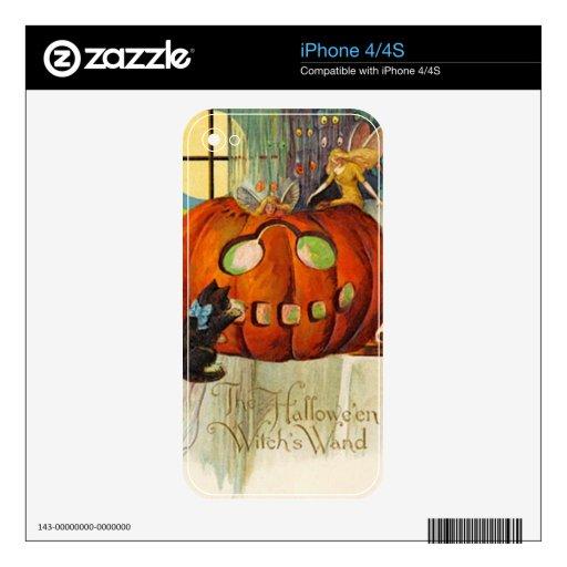 La vara Halloween de la bruja Skins Para iPhone 4