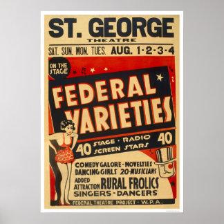 La variedad federal actúa WPA 1937 Póster