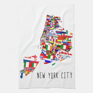 La vecindad de New York City señala la toalla de
