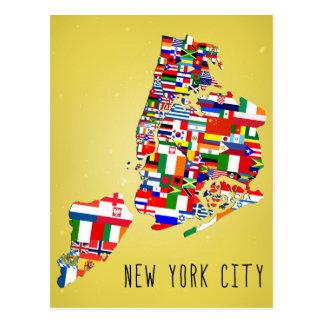 La vecindad de New York City señala las postales p