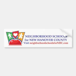 La vecindad enseña a la pegatina para el parachoqu etiqueta de parachoque