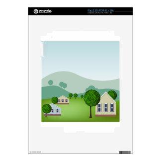 La vecindad residencial se dirige el dibujo calcomanía para el iPad 2