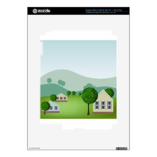 La vecindad residencial se dirige el dibujo iPad 3 pegatinas skins