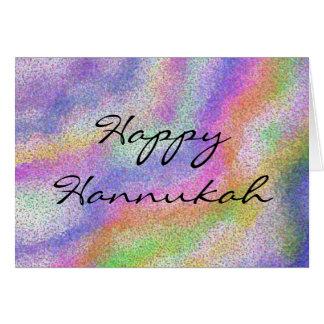 La vela de Hannukah colorea la tarjeta