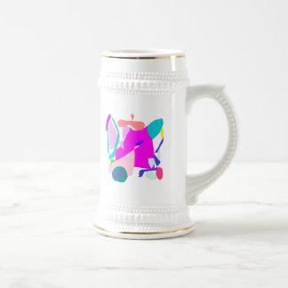 La vela de la filosofía de los pensamientos da la jarra de cerveza