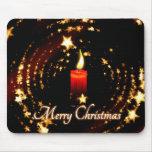 La vela de las Felices Navidad protagoniza el Alfombrilla De Ratones