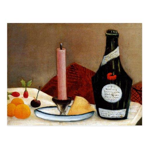 La vela rosada de Henri Rousseau Postal