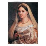 La velata or La donna velata by Raffael Greeting Card
