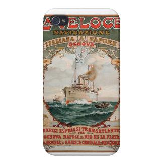 La Veloce Steam Ship Poster iPhone 4/4S Case
