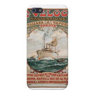 La Veloce Steam Ship Poster iPhone SE/5/5s Case