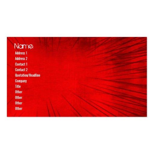 La velocidad del Grunge alinea rojo Tarjetas De Visita