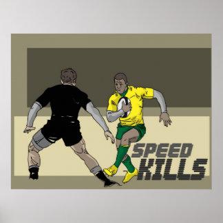 La velocidad del rugbi mata a 1 póster
