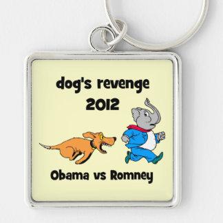 la venganza 2012 del perro llavero cuadrado plateado