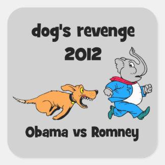 la venganza 2012 del perro pegatina cuadrada