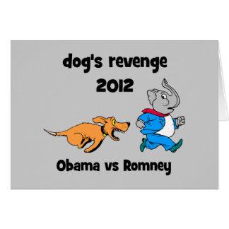 la venganza 2012 del perro tarjeta de felicitación