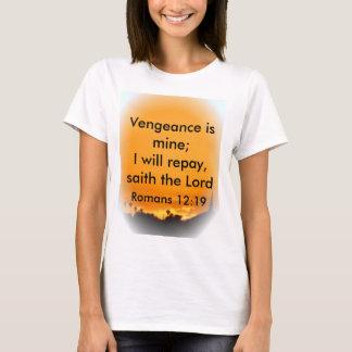 La venganza es la mía; Compensaré, saith el señor Playera
