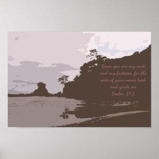 La ventaja y me dirige - 31:3 del salmo poster
