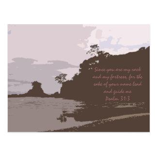 La ventaja y me dirige - 31:3 del salmo tarjeta postal