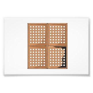 La ventana antigua de encargo de Capiz Shell Fotografías