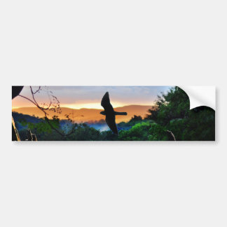 La ventana de dios con el pájaro en vuelo pegatina para auto