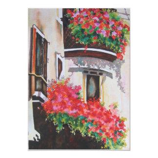 La ventana de Juliette Invitación 12,7 X 17,8 Cm