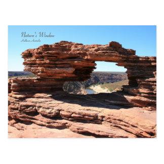 La ventana de la naturaleza Kalbarri - postal