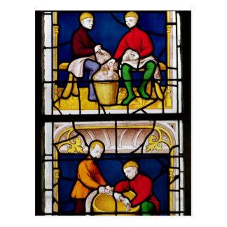 La ventana del comerciante del paño postales
