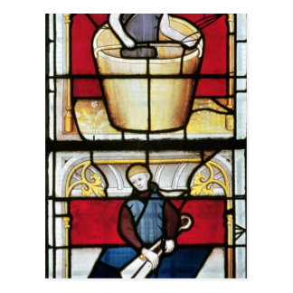 La ventana del comerciante del paño tarjetas postales