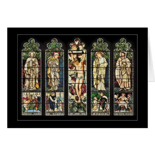 La ventana del este, iglesia de Troutbeck, Cumbria Tarjeta