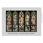La ventana del este, iglesia de Troutbeck, Cumbria Felicitacion