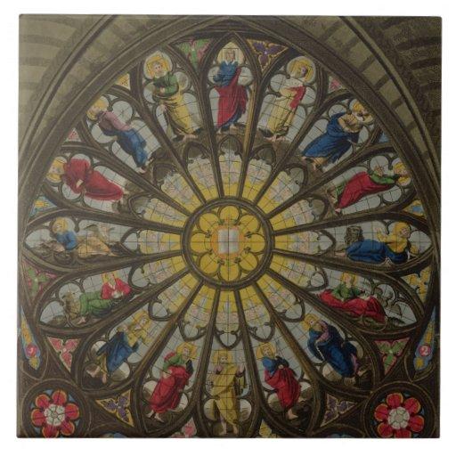 La ventana del norte, placa D de 'Westminster Abbe Azulejo Ceramica