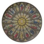 La ventana del norte, placa D de 'Westminster Abbe Plato De Cena