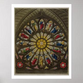 La ventana del norte, placa D de 'Westminster Abbe Póster