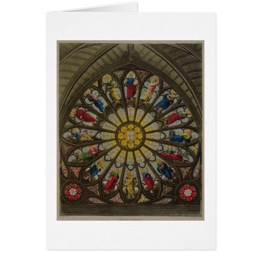 La ventana del norte, placa D de 'Westminster Abbe Tarjeta