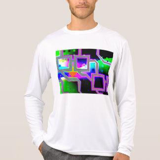 La ventana en el universo magenta y ciánico se ent camisetas