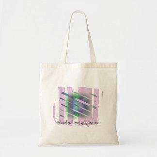 La ventana - extracto colorido impar bolsa tela barata